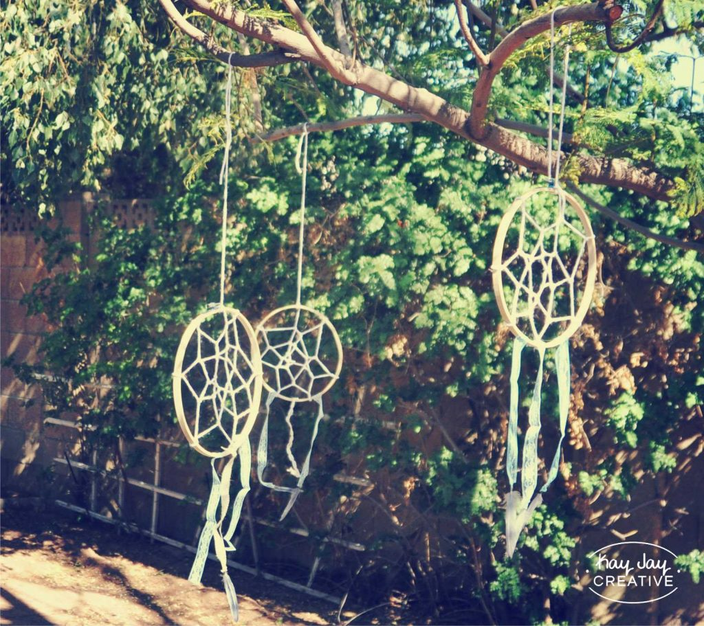 Home made dreamcatcher